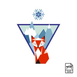 Mountain fox - Vector graphics